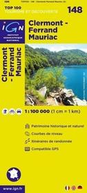 148 CLERMONT-FERRAND / MAURIAC mapa 1:100 000 IGN