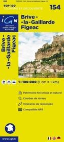 154 BRIVE LA GAILLARDE / FIGEA mapa 1:100 000 IGN