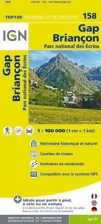 158 GAP BRIANCON mapa 1:100 000 IGN