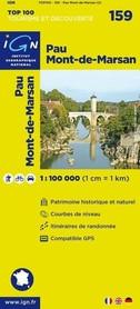 159 PAU / MONT DE MARSAN mapa 1:100 000 IGN