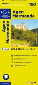 160 AGEN / MARMANDE mapa 1:100 000 IGN