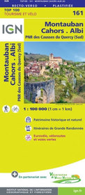 MONTAUBAN CAHORS ALBI 161 mapa turystyczna 1:100 000 IGN