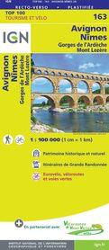 AVIGNON / NIMES 163 mapa turystyczna 1:100 000 IGN