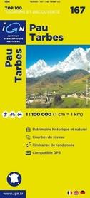 167 PAU TARBES mapa 1:100 000 IGN