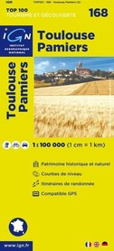 168 TOULOUSE / PAMIERS mapa 1:100 000 IGN