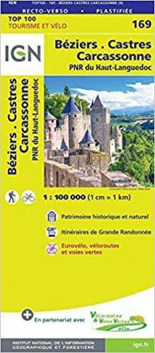 BEZIERS / CASTRES 169 mapa 1:100 000 IGN 2019