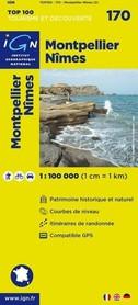 170 MONTPELLIER / NIMES mapa 1:100 000 IGN