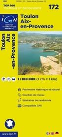 172 TOULON / AIX-EN-PROVENCE mapa 1:100 000 IGN