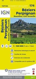 174 BEZIERS / PERPIGNAN (3) mapa 1:100 000 IGN