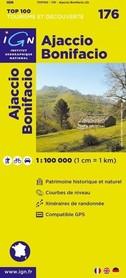176 AJACCIO BONIFACIO mapa 1:100 000 IGN