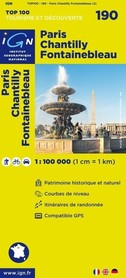 190 PARIS / CHANTILLY / FONTAINEBLEAU mapa 1:100 000 IGN