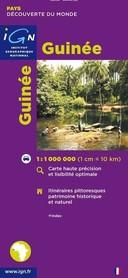 GUINEE GWINEA mapa samochodowa IGN