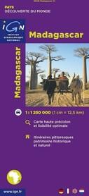 MADAGASKAR mapa samochodowa IGN