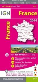 FRANCJA  mapa samochodowa IGN 2014