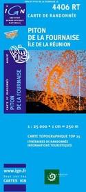PITON DE LA FOURNAISE - REUNION  mapa turystyczna IGN