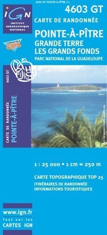 4603 GT POINTE-A-PITRE SAINTE-ANNE - GUADELOUPE mapa turystyczna IGN