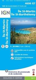 SAINT-MARTIN SAINT-BARTHELEMY 4606 GT mapa turystyczna IGN
