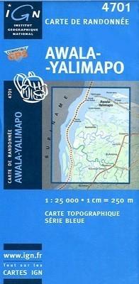 AWALA-YALIMAPO GUJANA FRANCUSKA mapa turystyczna 1:25 000 IGN