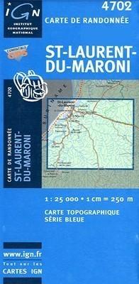 SAINT-LAURENT-DU-MARONI GUJANA FRANCUSKA mapa turystyczna 1:25 000 IGN