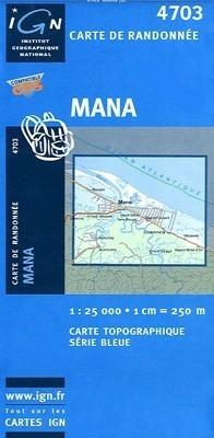 MANA / GUJANA FRANCUSKA mapa turystyczna 1:25 000 IGN