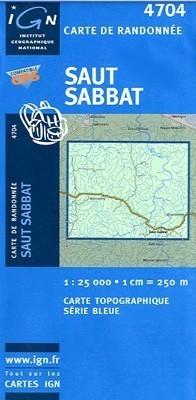 SAUT SABBAT / GUJANA FRANCUSKA mapa turystyczna 1:25 000 IGN