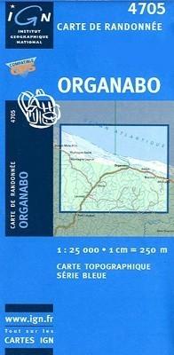 ORGANABO / GUJANA FRANCUSKA mapa turystyczna 1:25 000 IGN