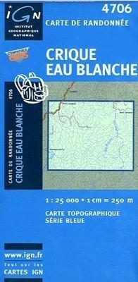 CRIQUE EAU BLANCHE / GUJANA FRANCUSKA mapa turystyczna 1:25 000 IGN