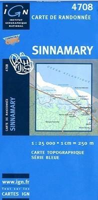 SINNAMARY / GUJANA FRANCUSKA mapa turystyczna 1:25 000 IGN