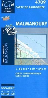MALMANOURY / GUJANA FRANCUSKA mapa turystyczna 1:25 000 IGN