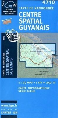 CENTRE SPATIAL GUYANNAIS / GUJANA FRANCUSKA mapa turystyczna 1:25 000 IGN