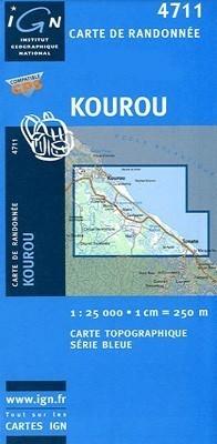 KOUROU / GUJANA FRANCUSKA mapa turystyczna 1:25 000 IGN