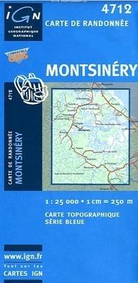 MONTSINERY / GUJANA FRANCUSKA mapa turystyczna 1:25 000 IGN