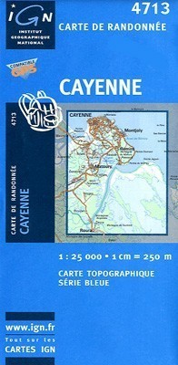 CAYENNE / GUJANA FRANCUSKA mapa turystyczna 1:25 000 IGN