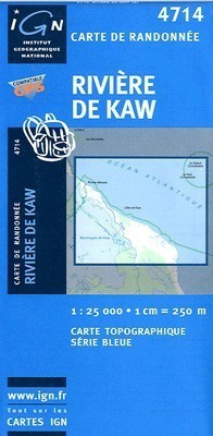 RIVIERE-DE-KAW / GUJANA FRANCUSKA mapa turystyczna 1:25 000 IGN
