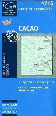 CACAO / GUJANA FRANCUSKA mapa turystyczna 1:25 000 IGN