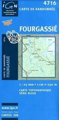 FOURGASSIE / GUJANA FRANCUSKA mapa turystyczna 1:25 000 IGN