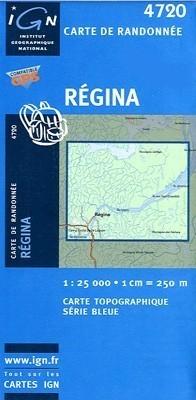REGINA / GUJANA FRANCUSKA mapa turystyczna 1:25 000 IGN