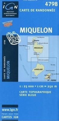 MIQUELON mapa turystyczna 1:25 000 IGN