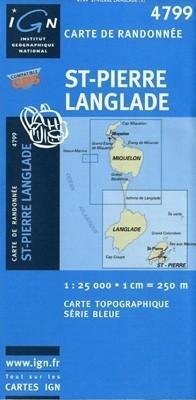 ST-PIERRE LANGLADE mapa turystyczna 1:25 000 IGN