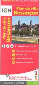BESANCON FRANCJA plan miasta 1:12 500 IGN
