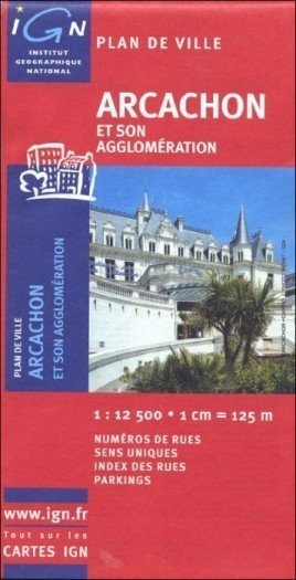 ARCACHON plan miasta 1:12 500 IGN