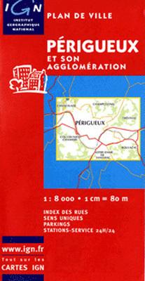 PERIGUEUX plan miasta 1:10 000 IGN