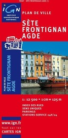 SETE / AGDE / FRONTIGNAN plan miasta 1:10 000 IGN