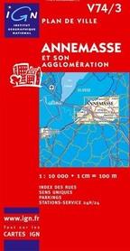 ANNEMASSE plan miasta 1:10 000 IGN