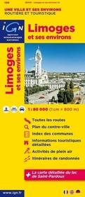 LIMOGES I OKOLICE FRANCJA mapa 1:80 000 IGN