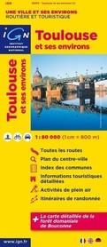 TOULOUSE TULUZA I OKOLICE mapa 1:80 000 IGN
