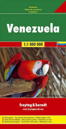 WENEZUELA mapa samochodowa 1:1 000 000 FREYTAG & BERNDT