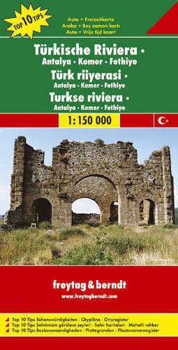RIWIERA TURECKA Antalya Kemer Fethiye mapa samochodowa 1:150 000FREYTAG & BERNDT