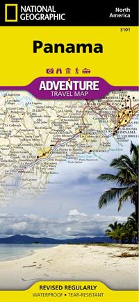 PANAMA mapa wodoodporna NATIONAL GEOGRAPHIC 2019