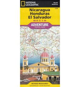 NIKARAGUA HONDURAS SALWADOR mapa NATIONAL GEOGRAPHIC